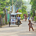 Happy Philippine Street Scene by James BO  Insogna