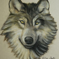 Happy Wolf by Linda Diane Taylor