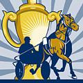 Harness Cart Horse Racing by Aloysius Patrimonio