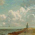 Harwich - The Low Lighthouse And Beacon Hill by John Constable