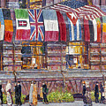 Hassam: Allied Flags, 1917 by Granger