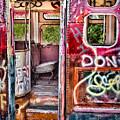 Haunted Graffiti Art Bus by Susan Candelario
