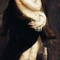 Helena Fourment In A Fur Wrap by Rubens