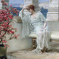 Her Eyes Are With Her Thoughts And They Are Far Away by Sir Lawrence Alma-Tadema