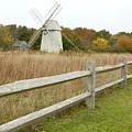 Higgins Farm Windmill Brewster Cape Cod by Matt Suess