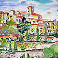 Hillside Village In Provence by Ginette Callaway