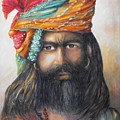 Hindu Holy Man by Debra  Bannister