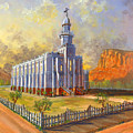 Historic St. George Temple by Jeff Brimley