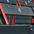 Historical Wood Seating At Boston Fenway Park by Juergen Roth