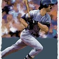 Hit Man  Don Mattingly  by Iconic Images Art Gallery David Pucciarelli