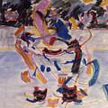 Hockey Game by Ken Yackel