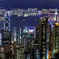Hong Kong At Night by Leung Cho Pan
