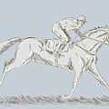 Horse And Jockey by Aloysius Patrimonio