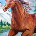 Horse Painting by Bekim Axhami