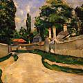 Houses Along A Road by Paul Cezanne