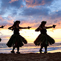 Hula At Sunset by David Olsen