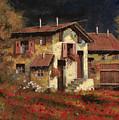 In Campagna La Sera by Guido Borelli
