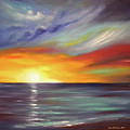 In The Moment Square Sunset by Gina De Gorna