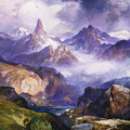 Index Peak Yellowstone National Park by Thomas Moran