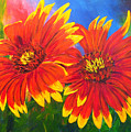 Indian Blanket Flowers by Mary Jo Zorad