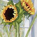 Indoor Sunflowers II by Trina Teele