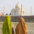 indu women at the Taj Mahal Print by Bill Bachmann - Printscapes