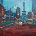 Indy Circle Night by Donna Shortt