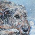 Irish Wolfhound Resting by Lee Ann Shepard