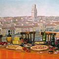 Italian Cityscape-verona Feast by Italian Art