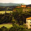 Italian Castle And Landscape by Marilyn Hunt