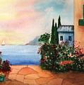 Italian Sunset Villa By The Sea by Sharon Mick