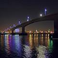 Itchen Bridge Reflections at Night