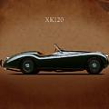 Jaguar Xk120 1949 by Mark Rogan