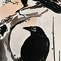 Japanese Print: Crow by Granger