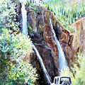 Jeeping At Bridal Falls  by Linda Shackelford