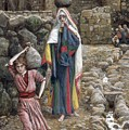 Jesus And His Mother At The Fountain by Tissot