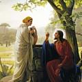 Jesus And The Samaritan Woman by Carl Bloch