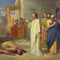 Jesus Healing The Leper by Jean Marie Melchior Doze
