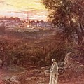 Jesus On The Mount Of Olives by William Brassey Hole
