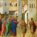 Jesus Opens The Eyes Of A Man Born Blind by Duccio di Buoninsegna