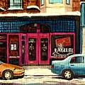 Jewish Montreal By Streetscene Artist Carole Spandau by Carole Spandau