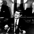 Jfk Announces Moon Landing Mission by War Is Hell Store