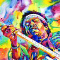 Jimi Hendrix Electric by David Lloyd Glover