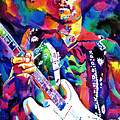Jimi Hendrix Purple by David Lloyd Glover