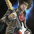Jimi Hendrix by Tom Carlton