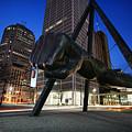 Joe Louis Fist Statue Jefferson And Woodward Ave. Detroit Michigan by Gordon Dean II