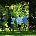 Joggers In The Park by Susan Savad