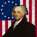 John Adams And The American Flag by War Is Hell Store