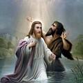 John The Baptist Baptizes Jesus Christ by War Is Hell Store