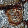John Wayne Bottle Cap Mosaic by Paul Van Scott